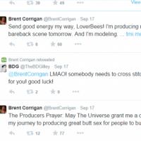 Brent Corrigan Bareback Tweet