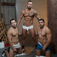 Damien Stone, Michael Roman, Leon Lewis