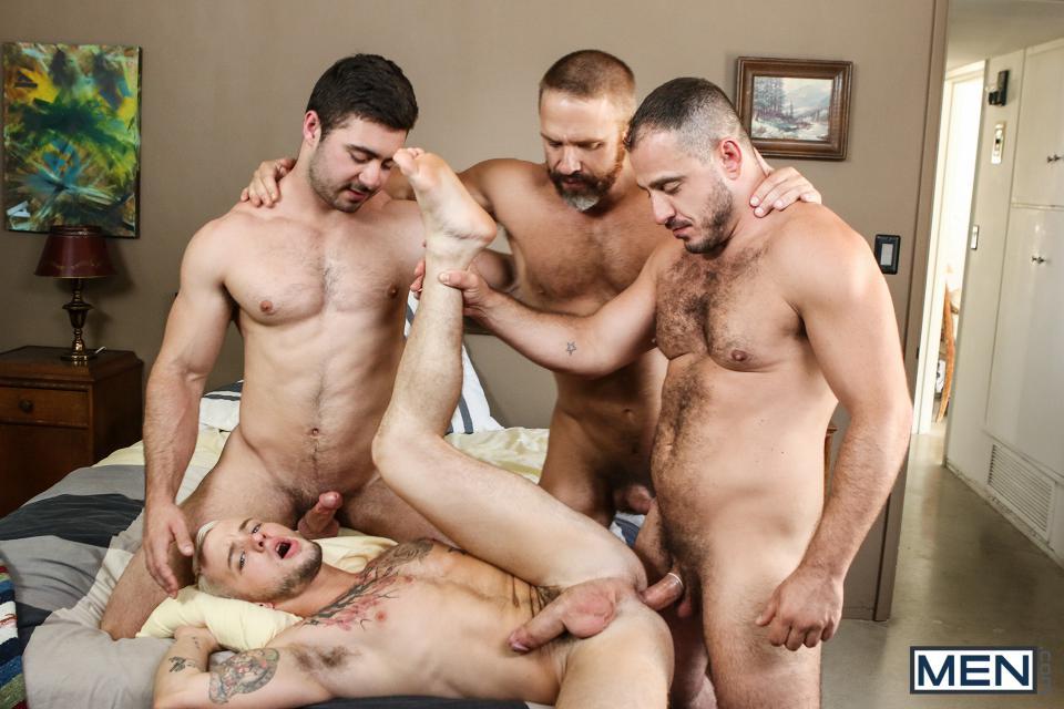 Orgy gay hairy guys porn