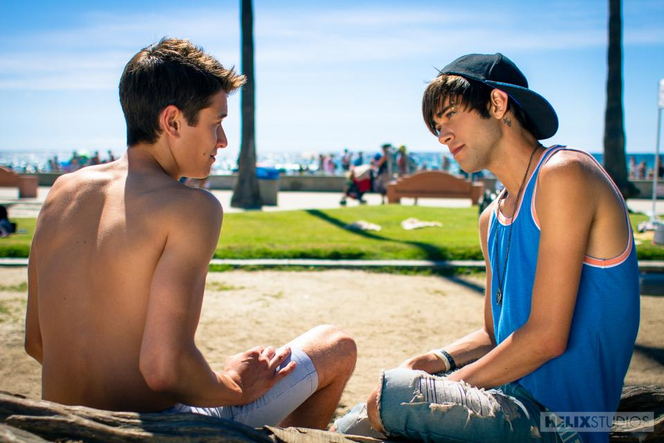 Hot twink damien diego sizzles in his first 9