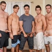 Rafael Alencar Dylan Knight, Jack Radley, Zac Stevens, and Johnny Rapid