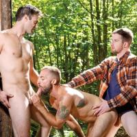 Thyle Knoxx, Gabriel Clark, and Jeremy London'