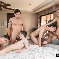 Inside-Helix-5-Orgy-Travis Stevens, Ashton Summers, Johnny Hands, Riley Finch, Jacob Hansen, Garrett Kinsley, HELIX