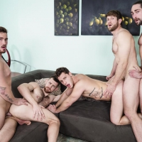 Trevor Long, Colby Keller and Paul Canon, Roman Cage, Jacob Peterson