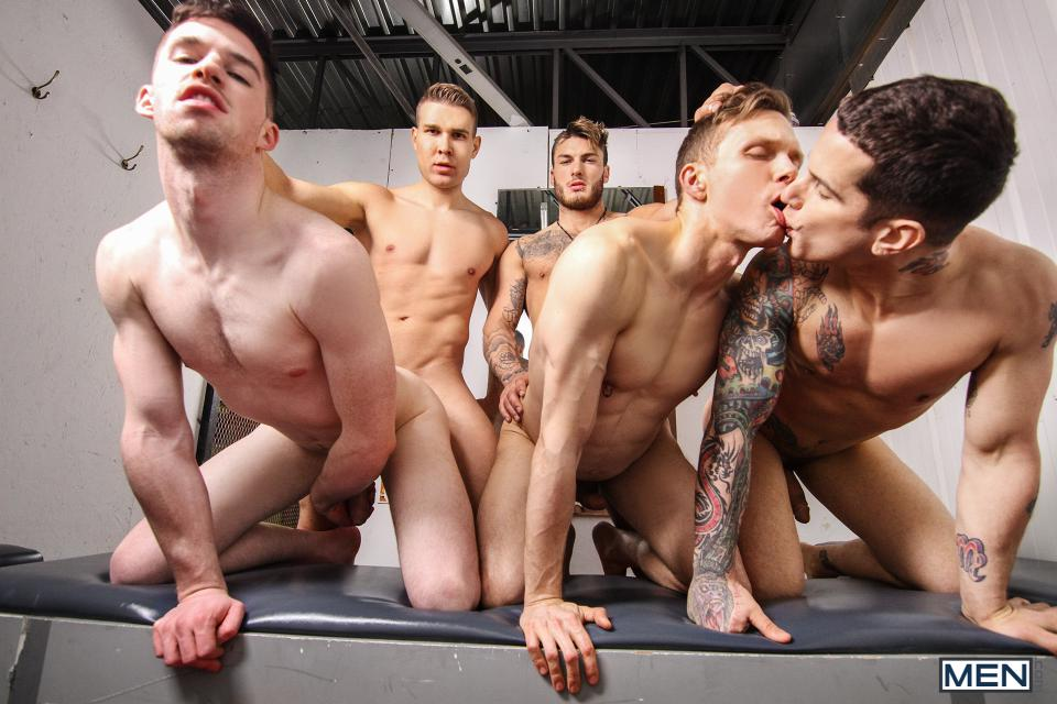 Hot Chase Joins Bareback Orgy