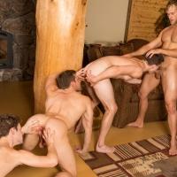 Brendan, Atticus, Robbie, Blake Sean Cody's Winter Getaway