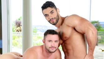 Arad Gives Muscle Bottom Colt Rivers A Greek Massage At NextDoor Buddies