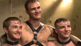Christian Wilde Uses 2 Sub Bottom Boys at Bound Gods