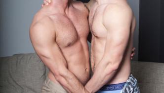 Kurtis Wolfe drills Gay Porn Star Tyler Wolf