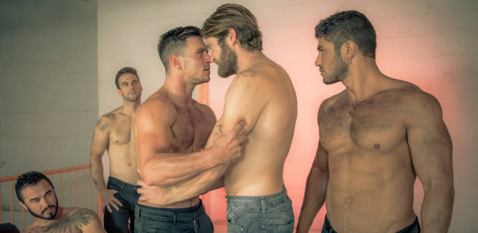 Paddy O'Brian Gangbanged By Colby Keller, Dato Foland, Gabriel Clark & Jessy Ares