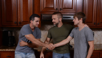 Stepfather's Secret Part – Dirk Caber, Johnny Rapid, & Phenix Saint