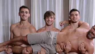 Dirk Caber Triple Penetrated By His 3 Hot Stepsons!!