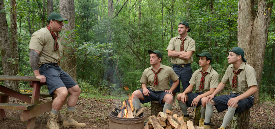 Zeb Atlas and Johnny Rapid Lead An Orgy At Scout Camp
