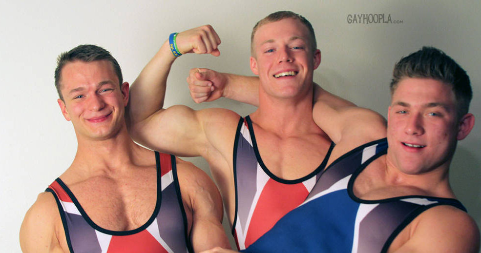 Colt Mclaire, Tyler Hanson, and Daniel Carter Wrestle At Gayhoopla
