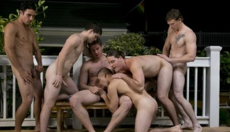 Johnny Forza and Jack King Lead A Bareback Jock Orgy At Dallas Reeves