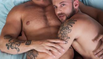 Gay Porn Star Tyler Wolf Cums Inside Muscle Stud Austin Wolf