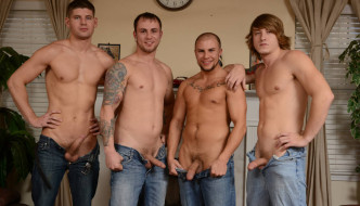 Connor Halstead,Eli Hunter,Jared Summers & Tom Faulk – Jizz Orgy!
