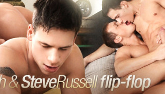 Brian Jovovich and Steve Russell Bareback Flip Fuck At BelAmi!