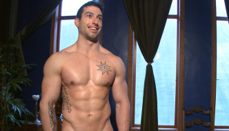 Bound Hot Bi Personal Trainer Begs To Cum At Men On Edge
