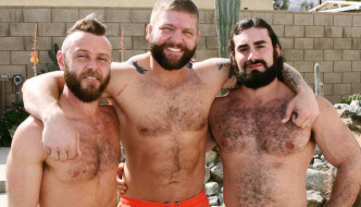 Colby Jansen and Bennett Anthony Take The Lead In A Bear Orgy!