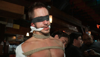 Bryan Cole Is Bound In Public My A Group Of Horny Guys!