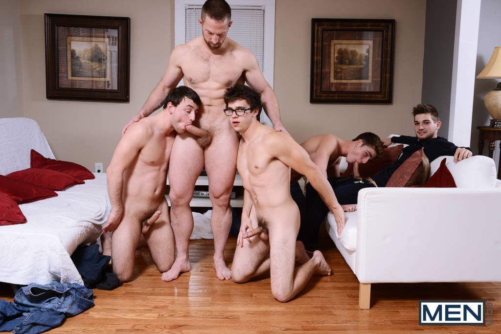 Johnny Rapid, Adam Herst, Travis Stevens, Scott Harbor, & Will Braun ORGY!