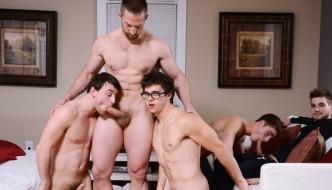 Johnny Rapid, Adam Herst, Travis Stevens, Scott Harbor, & Will Braun ORGY!