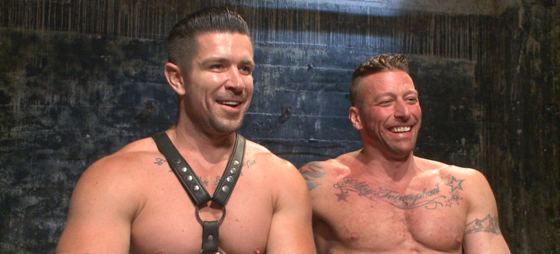 Bound Muscled Leather Hunk At The Mercy of Trenton Ducati!