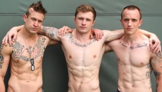 Markie More, Michael , and James – Bareback Military 3 Way!