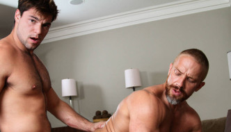 "Aspen Fucks Gay Porn Daddy Dirk Caber – ""The In-Laws"""