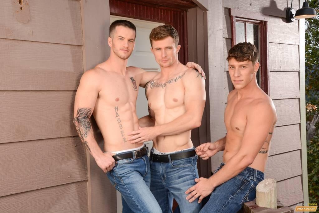 Markie More, Paul Canon, & Quentin Reunion Of Playful Boyfriends