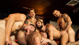 The Thirst Orgy – Jimmy Fanz, Pierre Fitch, Damien Crosse, Abraham Al Malek, Dominique Hansson