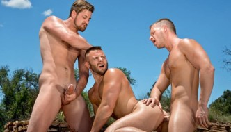 Brian Bonds, Nick Sterling, and Andrew Stark 3 Way At Raging Stallion
