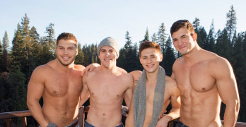Lane's Bareback Gangbang At Sean Cody