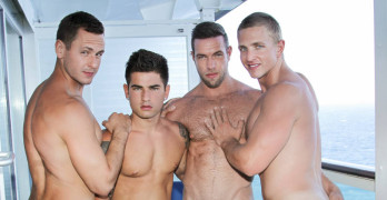 Brenner Bolton, Alex Mecum, Landon Mycles and Vadim Black ORGY