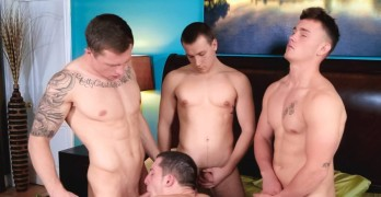 BAREBACK ORGY! Drake Tyler, Markie More, David Stone, and Damien West