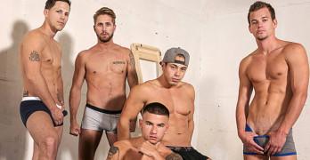 Bareback Orgy – Wesley Woods, Vadim Black, Roman Todd, and John Delta
