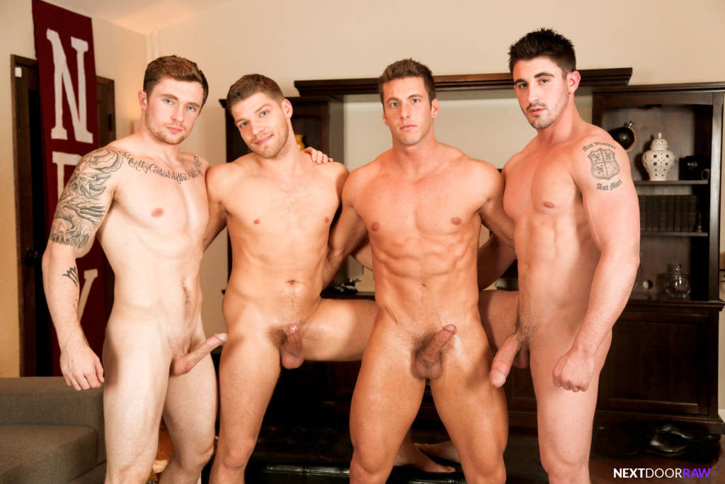 Markie More, Derrick Dime, Bridger Watts, Rod Peterson – Bareback Orgy