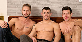 Reed Jameson Fucked Raw By Wesley Woods and Jeremy Spreadums