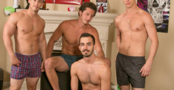 Dick Dorm Bareback Orgy and A Banana Split