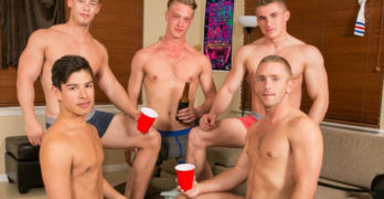 Scott Riley's Bareback Frat Boy Orgy!