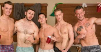 Bareback College Orgy
