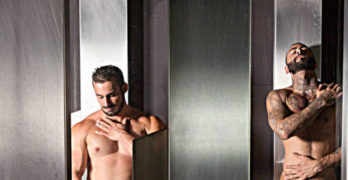 Jaxton Wheeler and Rikk York's Bareback Fuck In The Steam Room