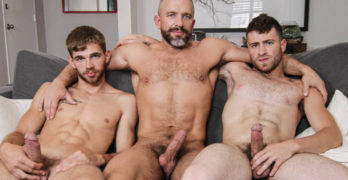 Dalton Briggs and Vincent Diaz Play With Horny Step Dad Dirk Caber