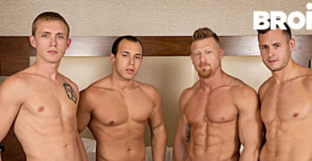 Brenner Bolton Likes It Rough and Raw – Three Horny Tops Use His Hole