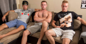 Ken Klein, Brandon Evans, and Charlie Use A Selfie Dick At The Dick Dorm
