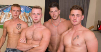 Bareback Frat Orgy! Trevor Long, Brandon Evans, Ashton, and Zane Anders