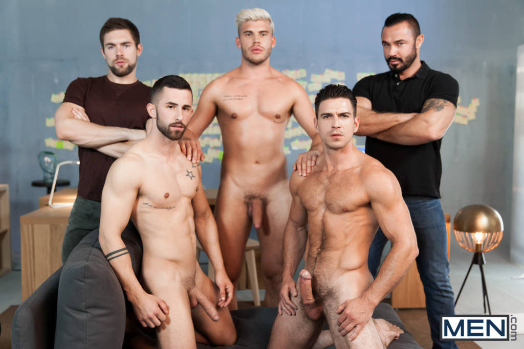 Paddy O'Brian, Jessy Ares, Griffin Barrows, Sunny Colucci, and Ken Rodeo ORGY