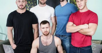 Trevor Long, Colby Keller and Paul Canon, Roman Cage, and Jacob Peterson ORGY!