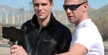 Alex Chandler and Garyson Danielz Fuck Bareback Outdoors